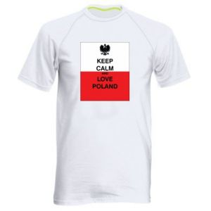 Men's sports t-shirt Polish flag with an inscription - PrintSalon