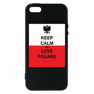 Phone case for iPhone 5/5S/SE Polish flag with an inscription