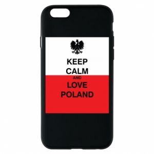 Phone case for iPhone 6/6S Polish flag with an inscription