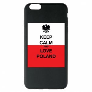 Phone case for iPhone 6 Plus/6S Plus Polish flag with an inscription