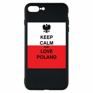 Phone case for iPhone 7 Plus Polish flag with an inscription