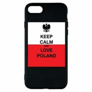 Phone case for iPhone 8 Polish flag with an inscription