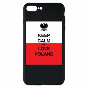 Phone case for iPhone 8 Plus Polish flag with an inscription