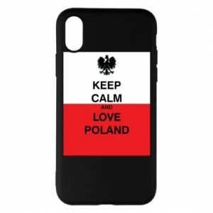Phone case for iPhone X/Xs Polish flag with an inscription