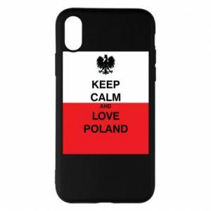 Etui na iPhone X/Xs Polska flaga z napisem