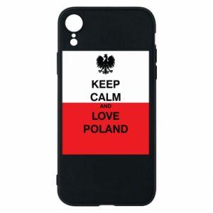 Etui na iPhone XR Polska flaga z napisem