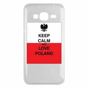 Etui na Samsung J3 2016 Polska flaga z napisem