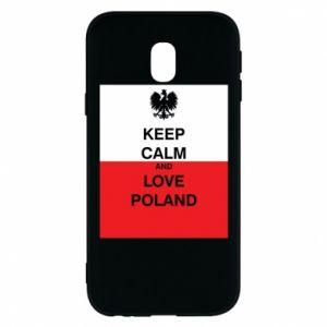 Etui na Samsung J3 2017 Polska flaga z napisem