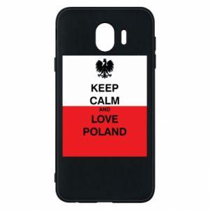 Etui na Samsung J4 Polska flaga z napisem