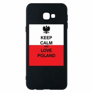 Etui na Samsung J4 Plus 2018 Polska flaga z napisem