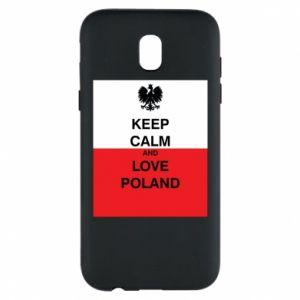 Etui na Samsung J5 2017 Polska flaga z napisem