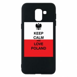 Etui na Samsung J6 Polska flaga z napisem