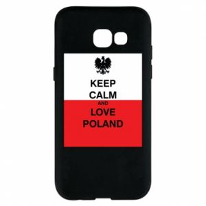 Etui na Samsung A5 2017 Polska flaga z napisem