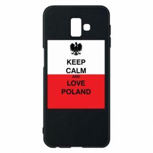 Etui na Samsung J6 Plus 2018 Polska flaga z napisem