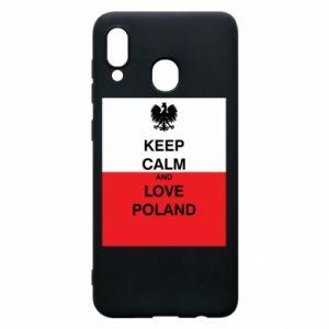 Etui na Samsung A20 Polska flaga z napisem