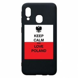 Etui na Samsung A40 Polska flaga z napisem