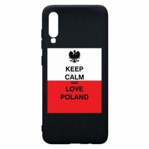 Etui na Samsung A70 Polska flaga z napisem
