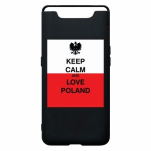 Etui na Samsung A80 Polska flaga z napisem