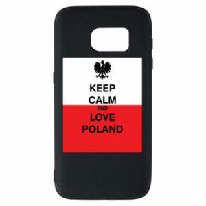 Etui na Samsung S7 Polska flaga z napisem