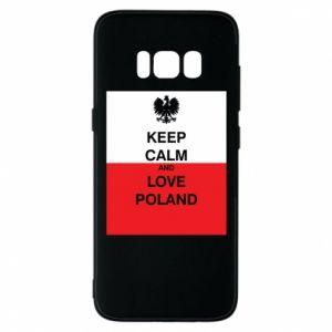 Etui na Samsung S8 Polska flaga z napisem