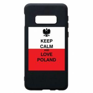 Etui na Samsung S10e Polska flaga z napisem