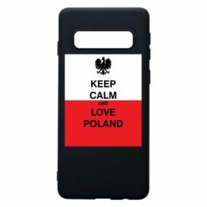Etui na Samsung S10 Polska flaga z napisem