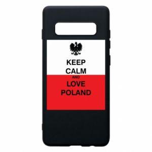 Etui na Samsung S10+ Polska flaga z napisem