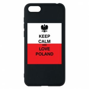 Phone case for Huawei Y5 2018 Polish flag with an inscription - PrintSalon