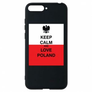 Phone case for Huawei Y6 2018 Polish flag with an inscription - PrintSalon
