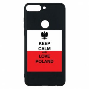 Phone case for Huawei Y7 Prime 2018 Polish flag with an inscription - PrintSalon