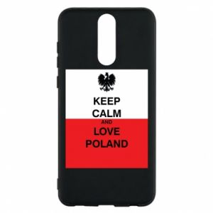 Phone case for Huawei Mate 10 Lite Polish flag with an inscription - PrintSalon