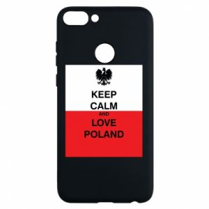 Phone case for Huawei P Smart Polish flag with an inscription - PrintSalon