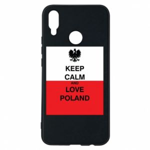 Phone case for Huawei P Smart Plus Polish flag with an inscription
