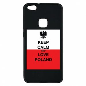 Phone case for Huawei P10 Lite Polish flag with an inscription - PrintSalon