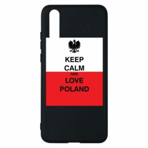 Phone case for Huawei P20 Polish flag with an inscription - PrintSalon