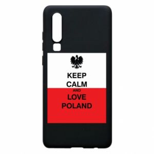 Phone case for Huawei P30 Polish flag with an inscription - PrintSalon