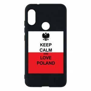 Etui na Mi A2 Lite Polska flaga z napisem
