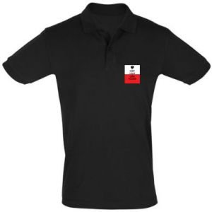 Men's Polo shirt Polish flag with an inscription - PrintSalon