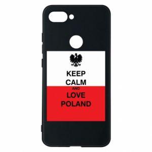 Etui na Xiaomi Mi8 Lite Polska flaga z napisem