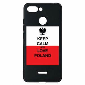 Phone case for Xiaomi Redmi 6 Polish flag with an inscription