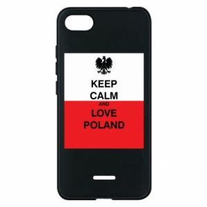 Phone case for Xiaomi Redmi 6A Polish flag with an inscription