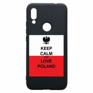 Phone case for Xiaomi Redmi 7 Polish flag with an inscription