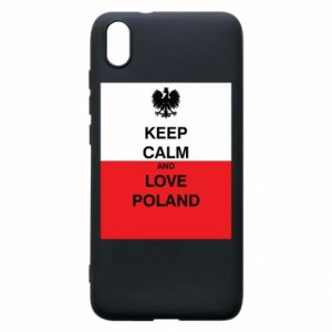 Phone case for Xiaomi Redmi 7A Polish flag with an inscription