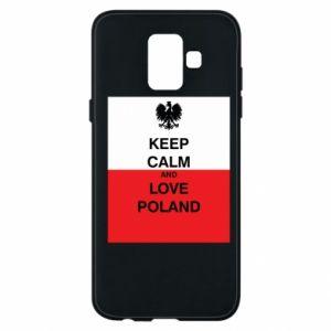 Etui na Samsung A6 2018 Polska flaga z napisem