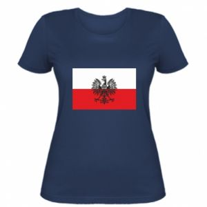 Women's t-shirt Polish flag