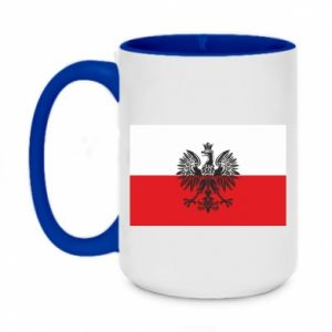 Two-toned mug 450ml Polish flag