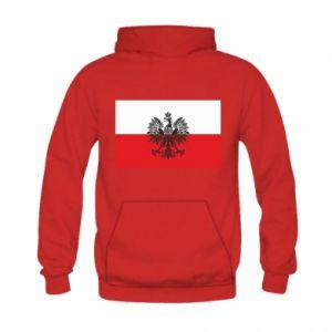 Bluza z kapturem dziecięca Polska flaga