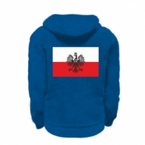 Kid's zipped hoodie % print% Polish flag