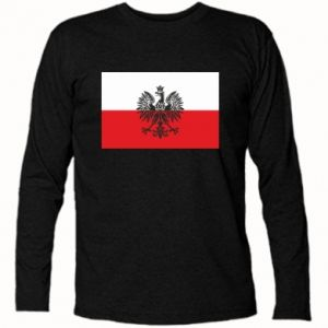 Long Sleeve T-shirt Polish flag - PrintSalon