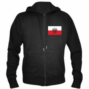 Men's zip up hoodie Polish flag - PrintSalon